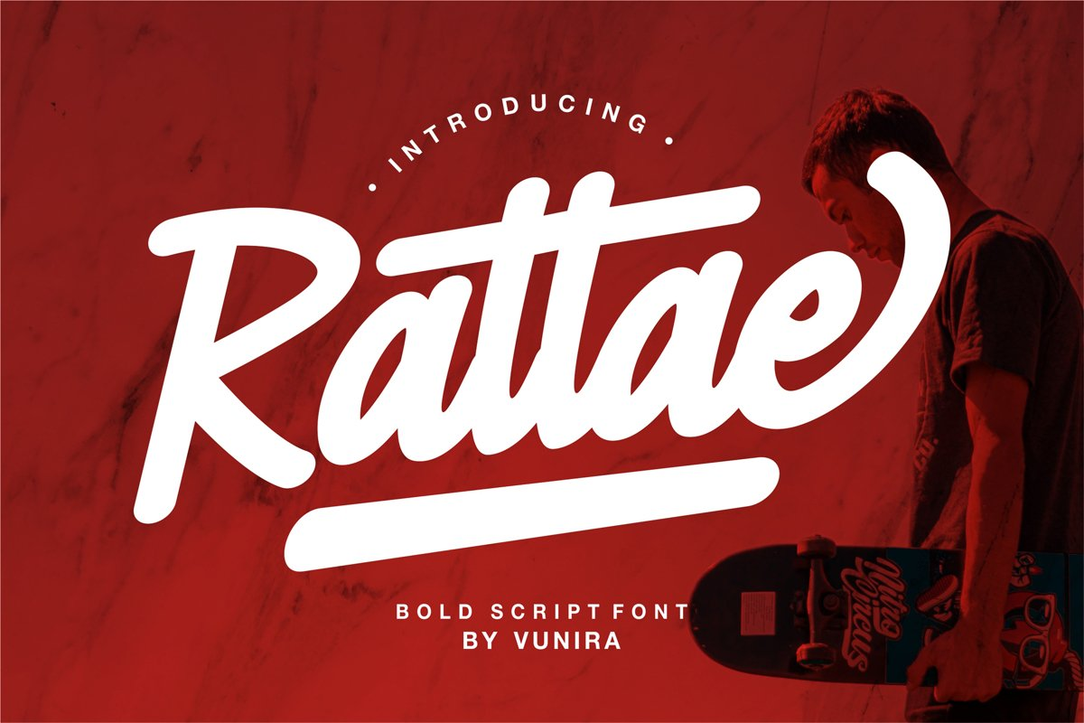 Rattae | Bold Script Font example image 1
