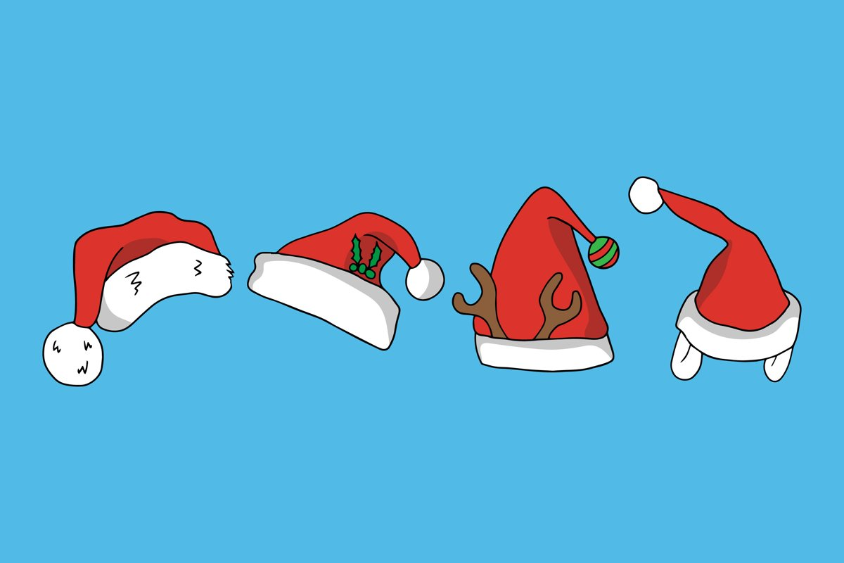 Santa Hat Illustrations example image 1