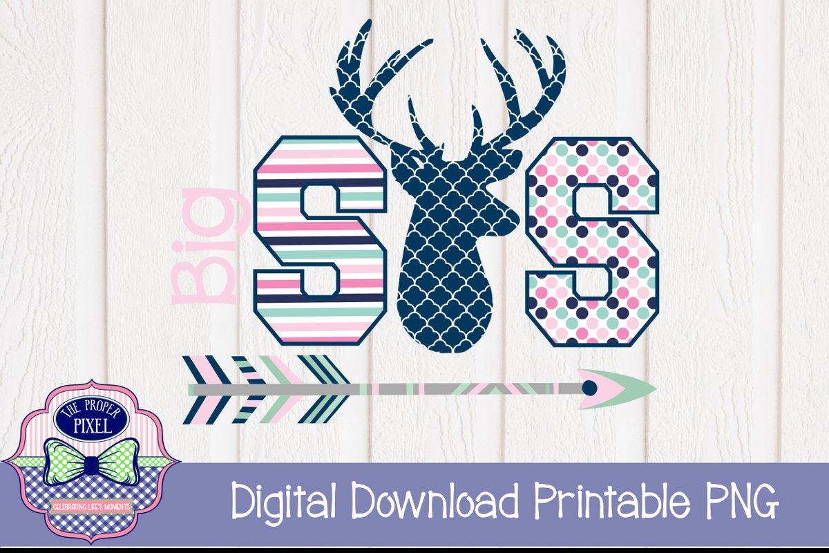 Deer Themed Big Sister Sibling Design example image 1