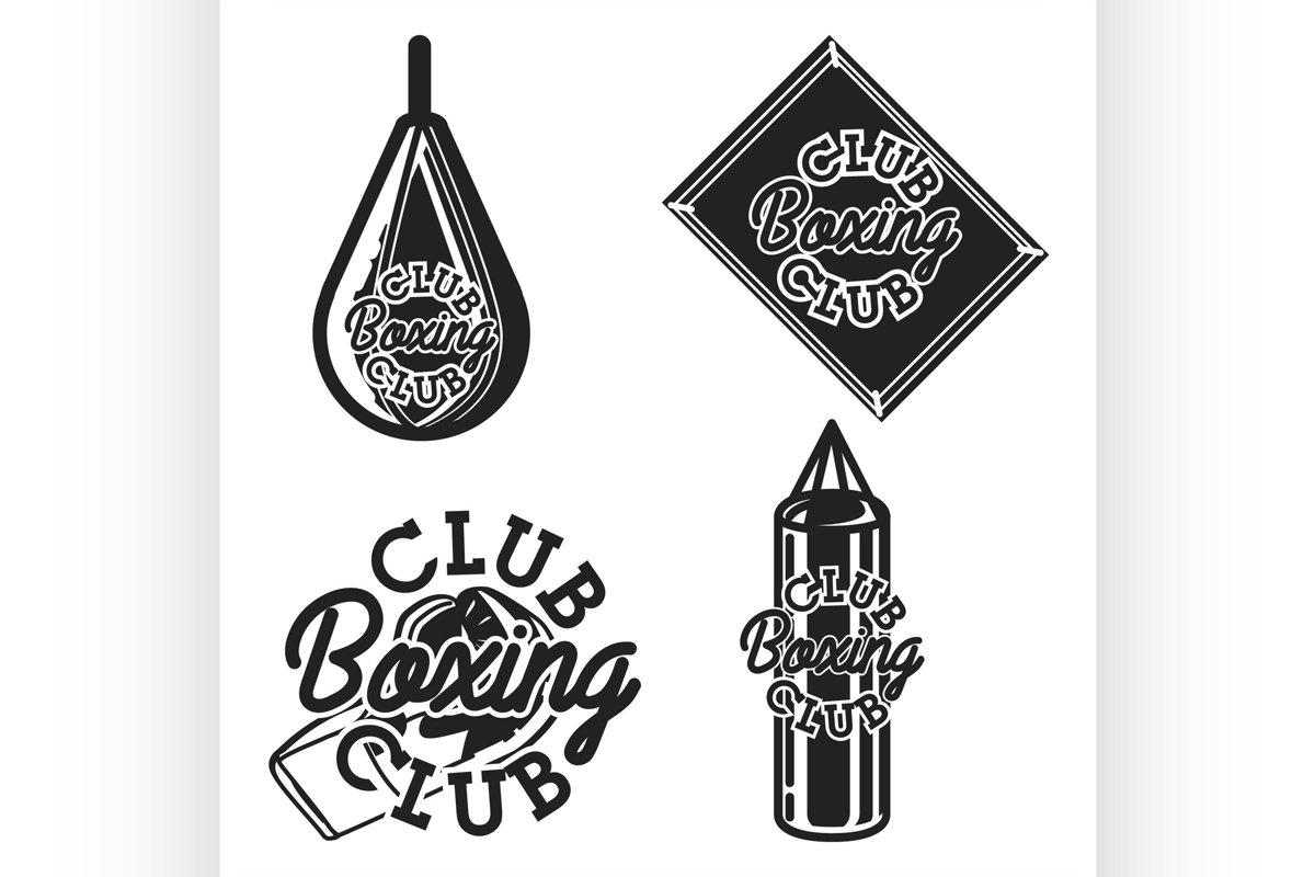 Vintage boxing club emblems example image 1