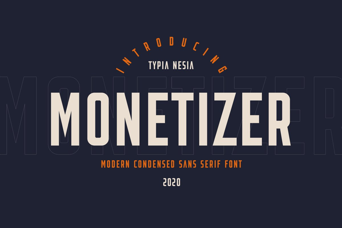 Monetizer - Condensed Sans example image 1