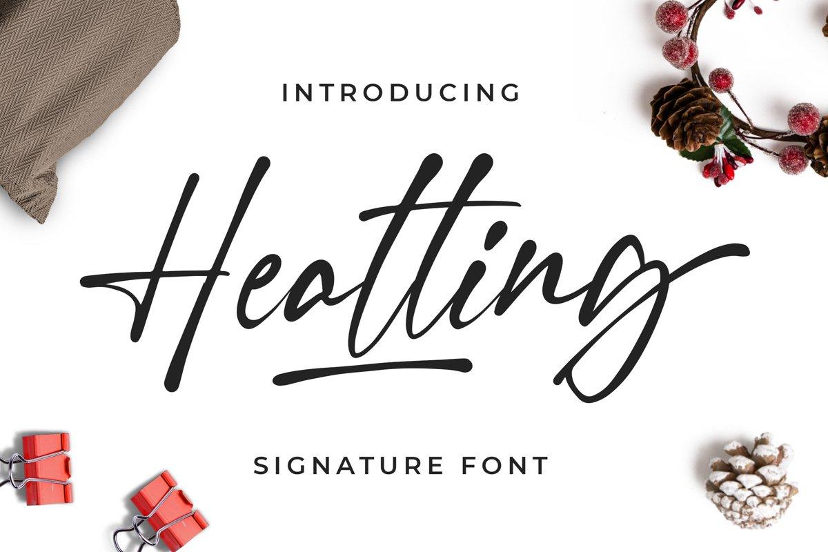 Heatting - Signature Font example image 1