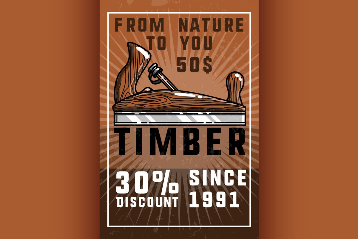 Color vintage timber banner example image 1