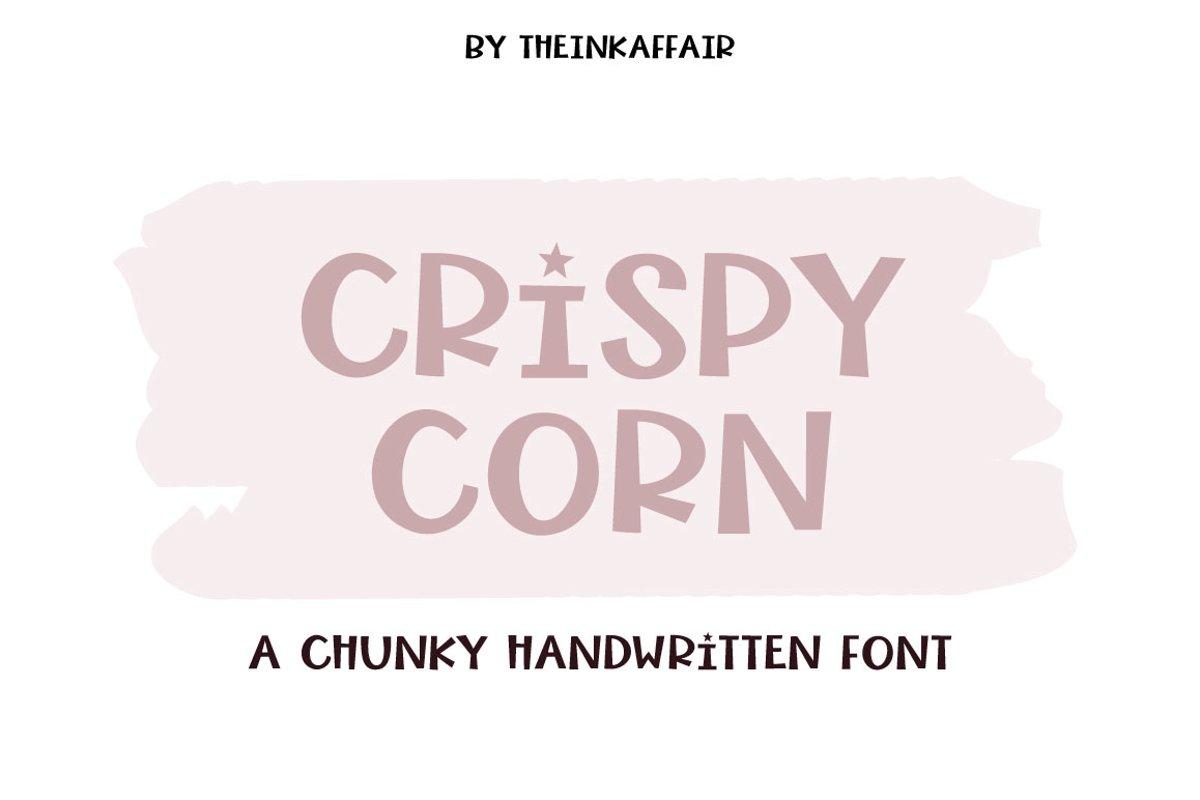 Crispy Corn, a chunky handwritten font example image 1