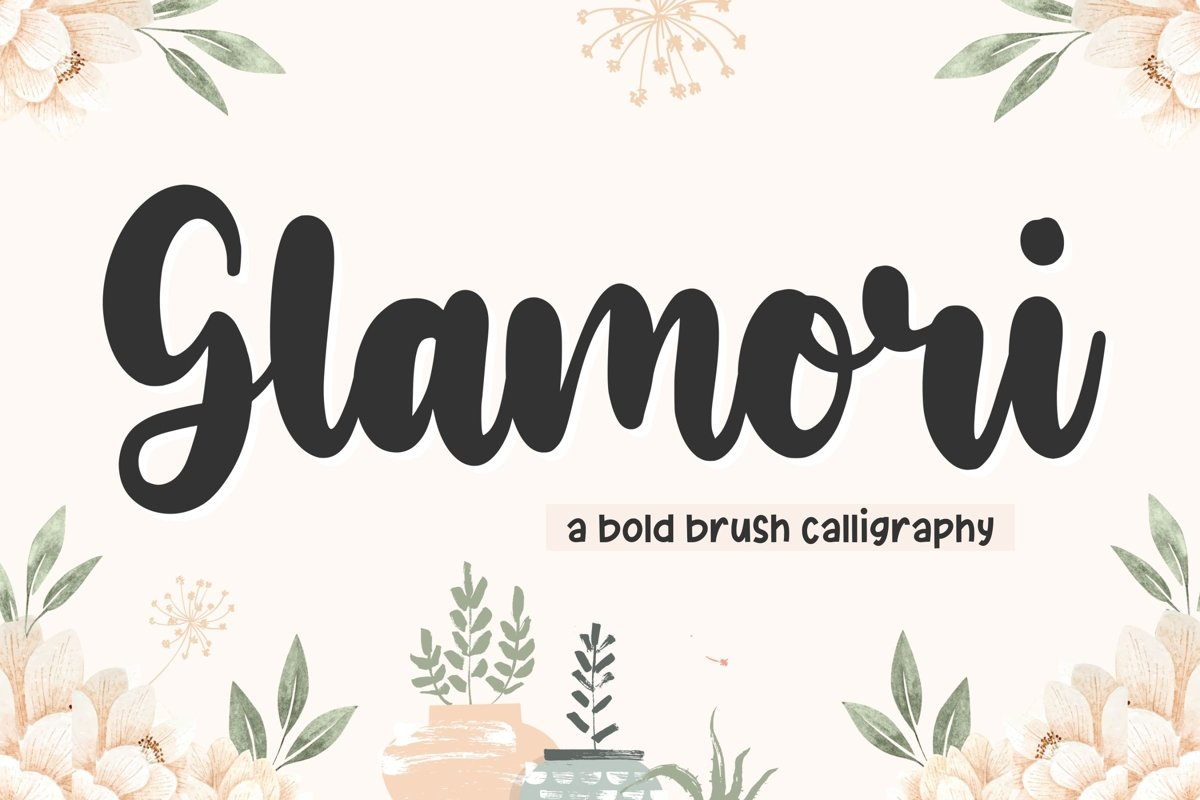 Glamori Bold Brush Calligraphy Font example image 1