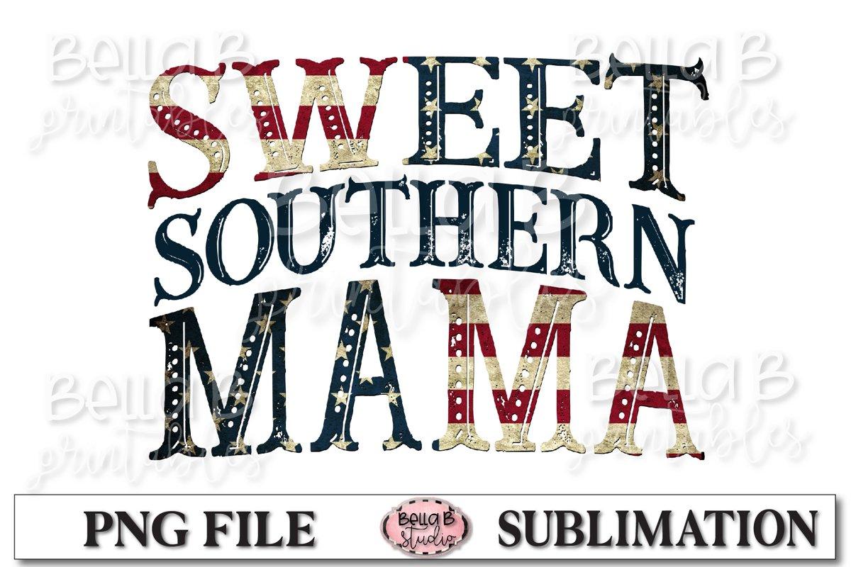 Sweet Southern Mama Sublimation Design example image 1