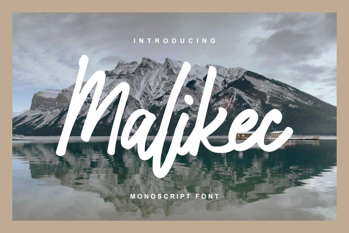 Malikec | Mono Script Font example image 1