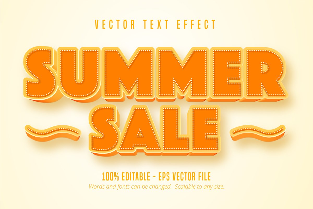 Summer sale editable text effect example image 1