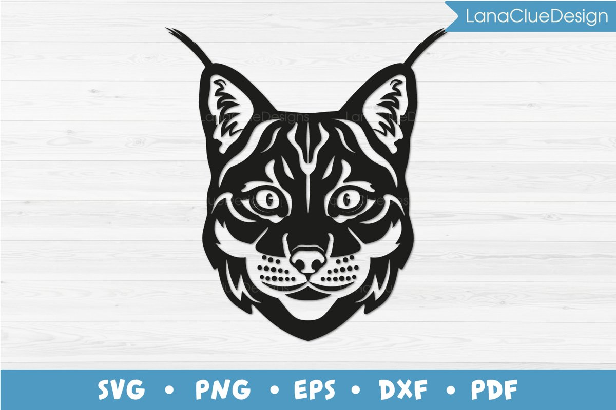 Lynx SVG Cut File - Bobcat - Wild Cat example image 1