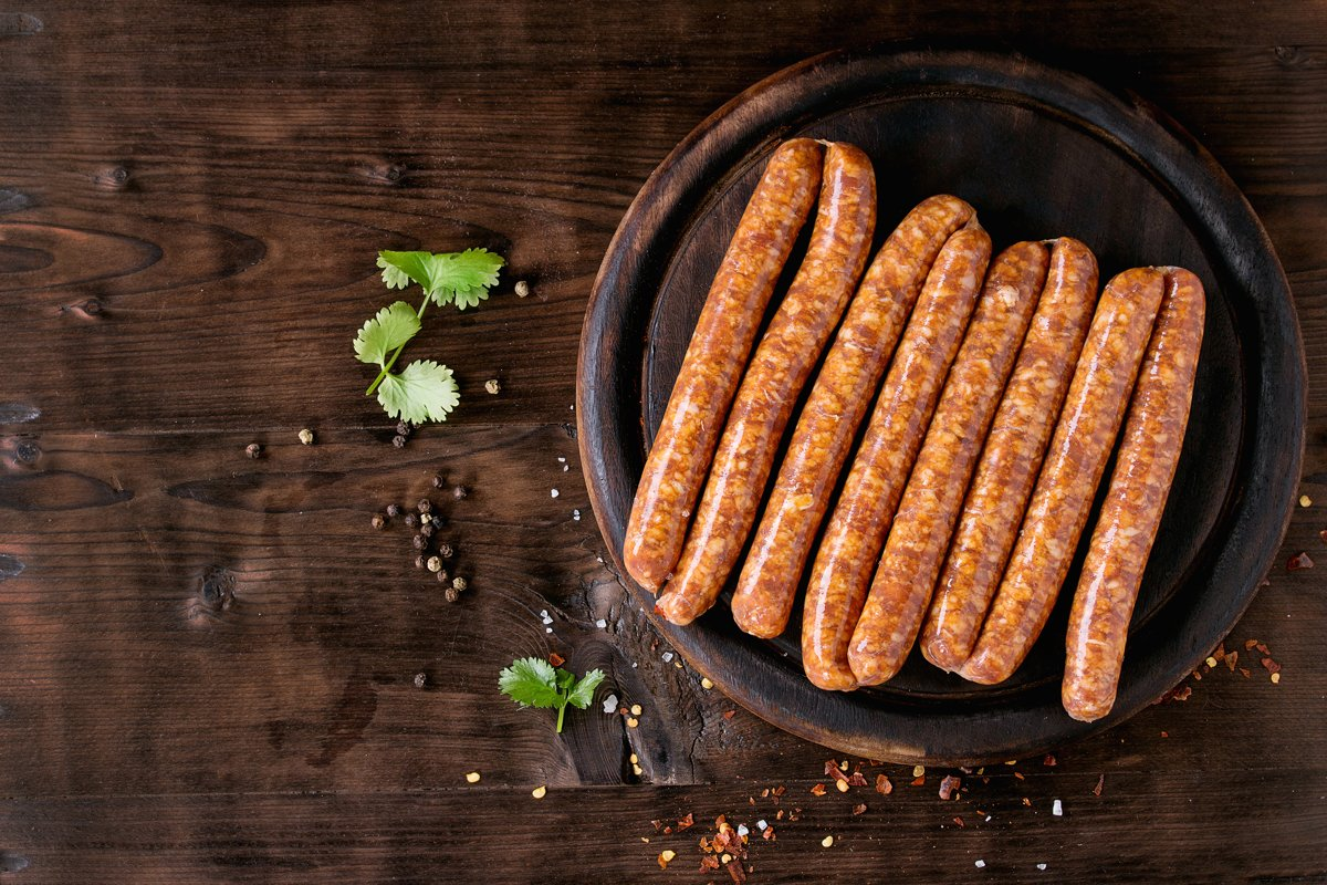 Raw sausages for BBQ example image 1