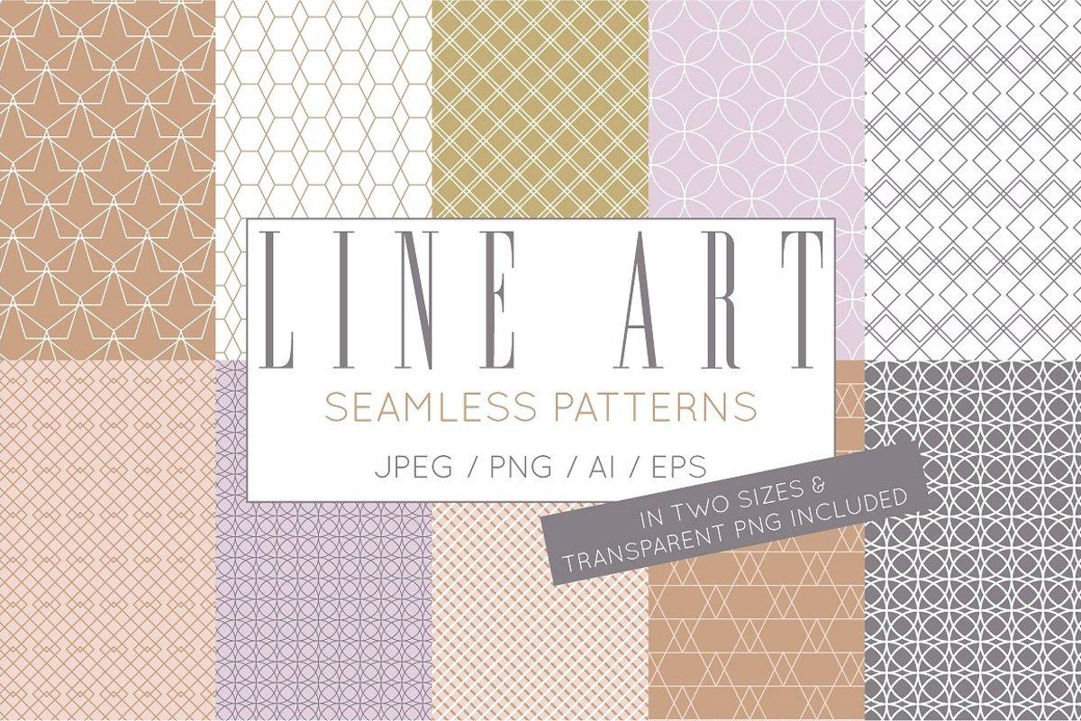 Simple Elegant Line Art Pattern Set example image 1