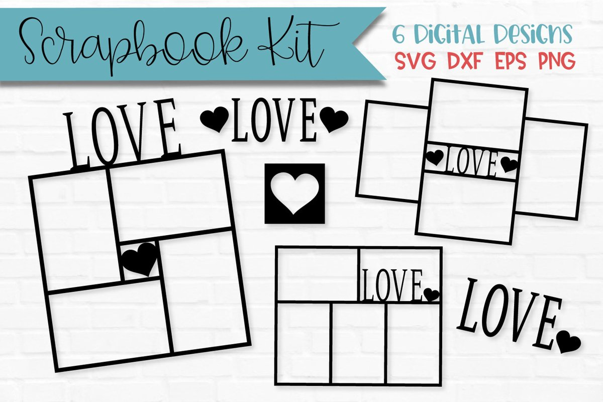 Love Frames Scrapbook Page Kit example image 1