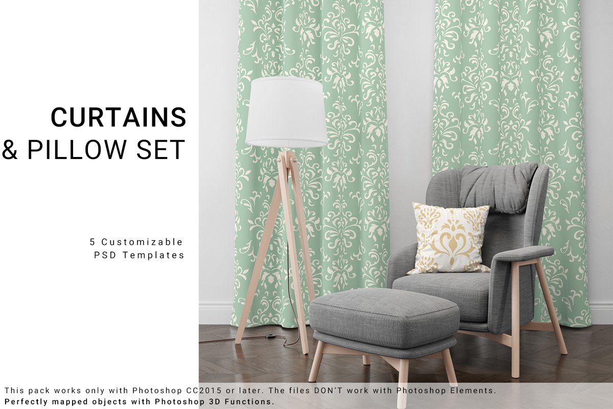 Curtains and Pillow Set example image 1