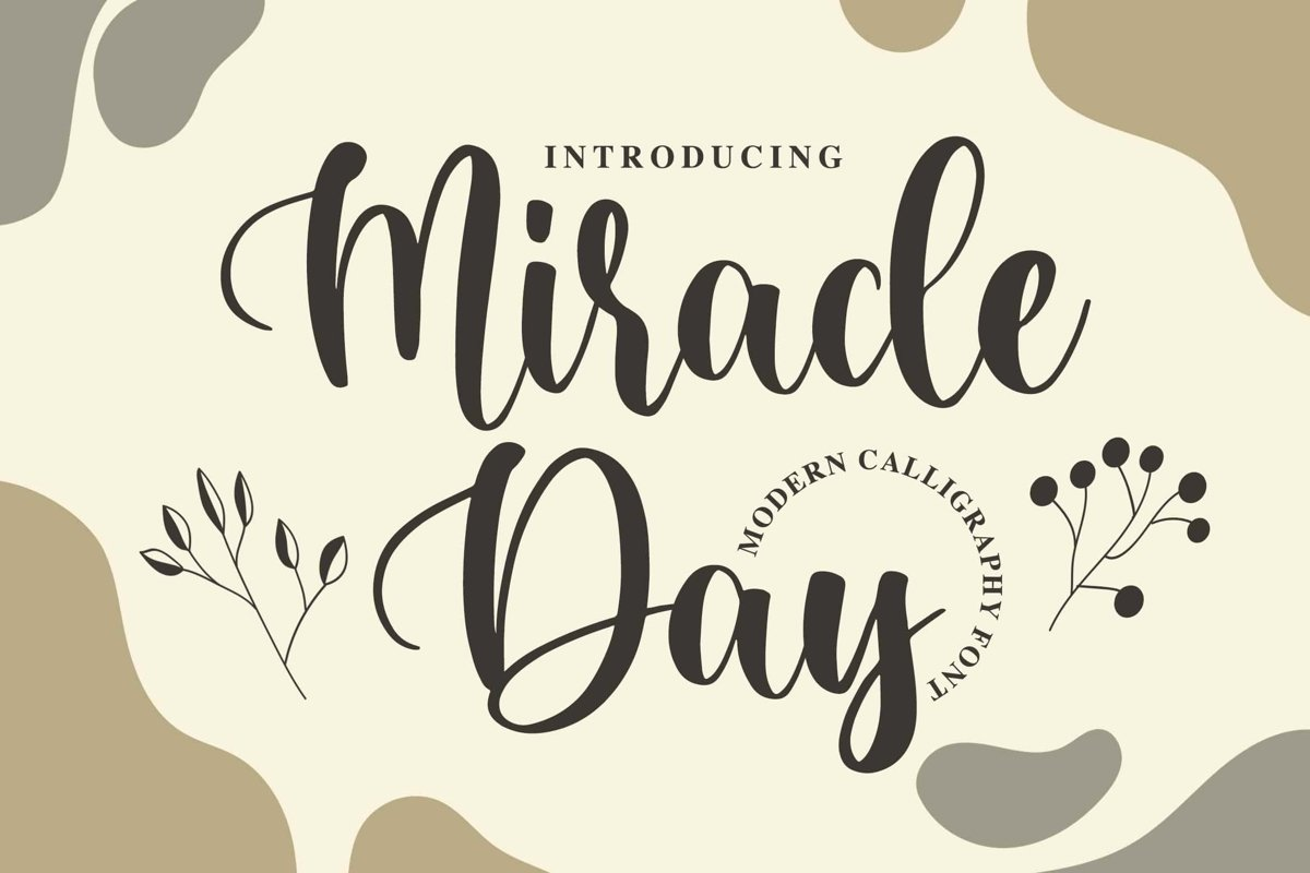 Miracle Day - Modern Calligraphy Font example image 1