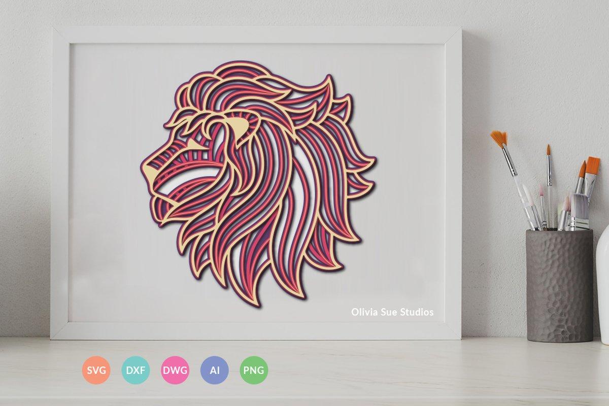 Download Multi Layer Mandala Lion SVG File