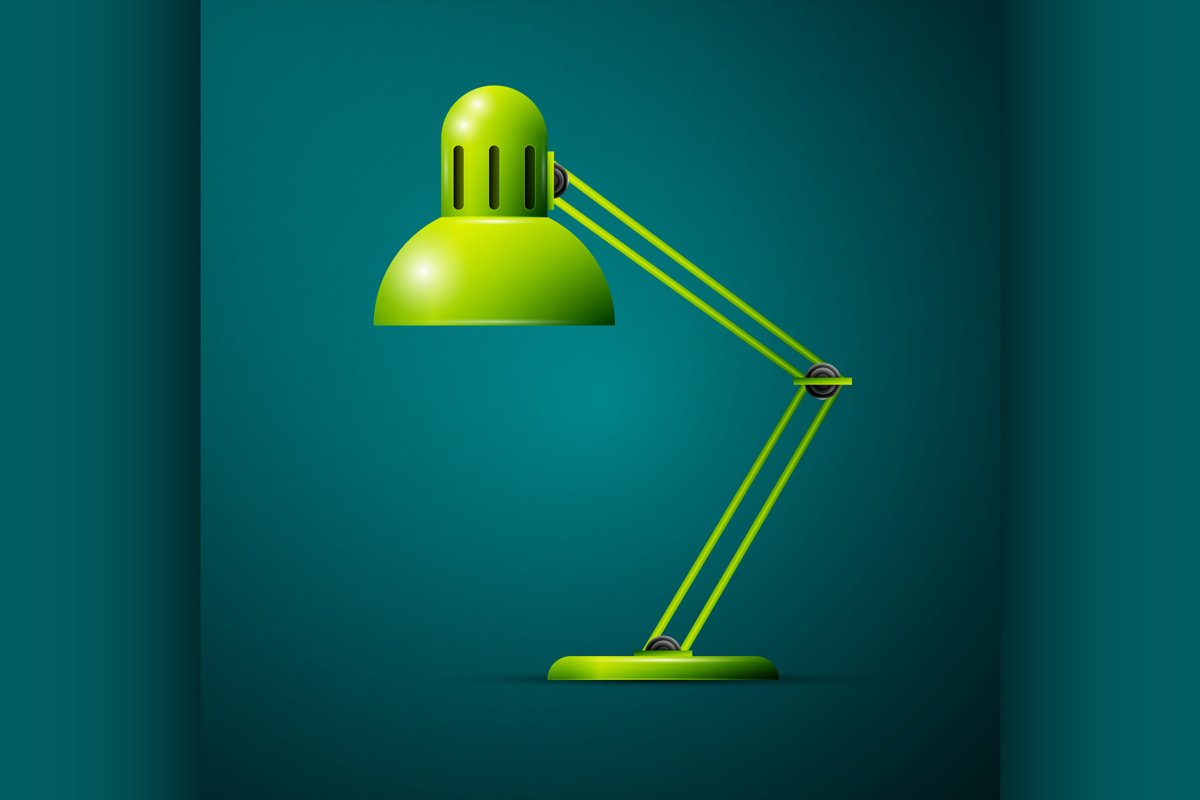 Green desk lamp example image 1