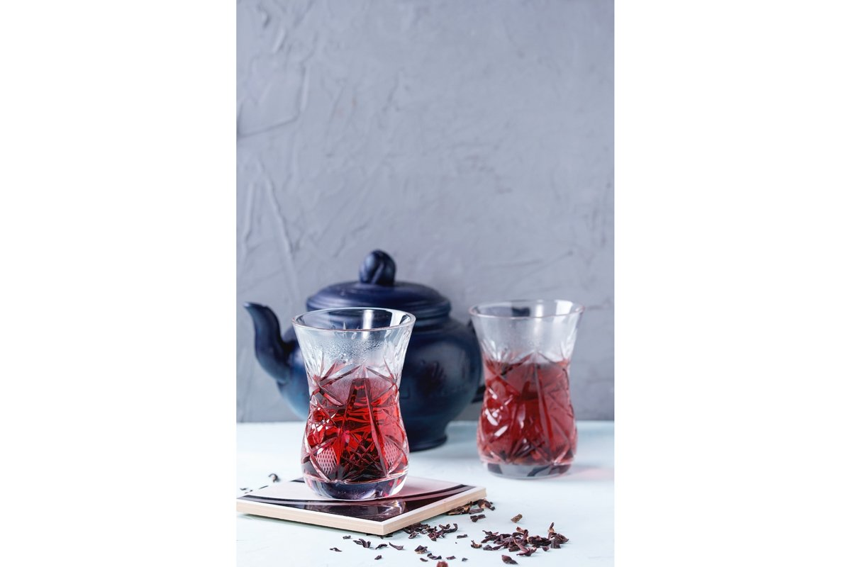 Glasses of hibiscus tea example image 1