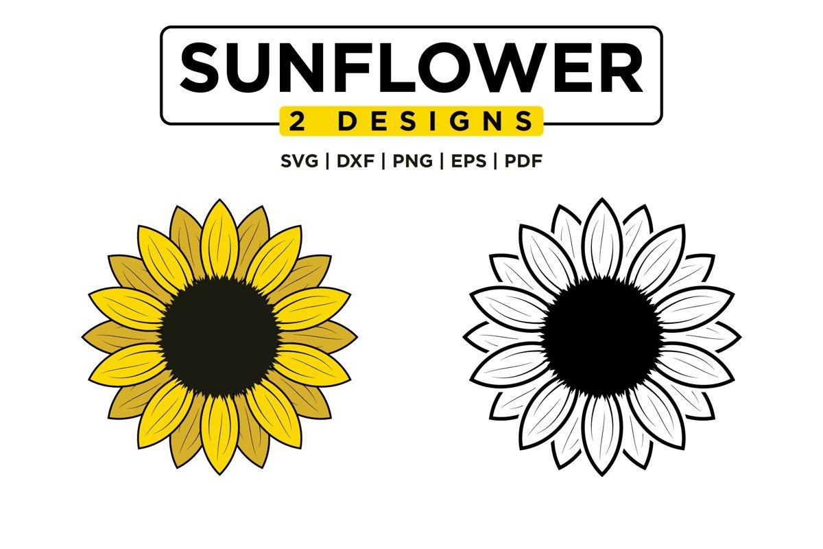Sunflower SVG Bundle, Sunflower Clipart, Sunflower Monogram example image 1