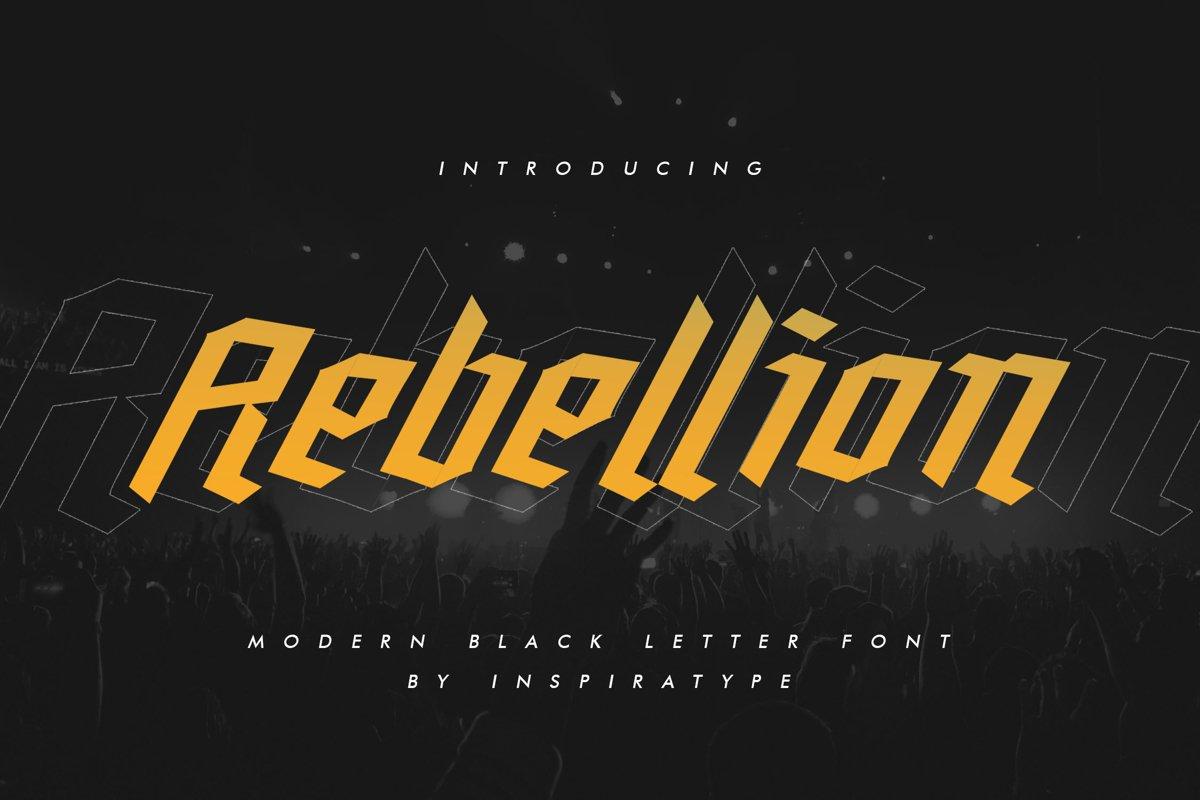 Rebellion - Modern Blackletter example image 1