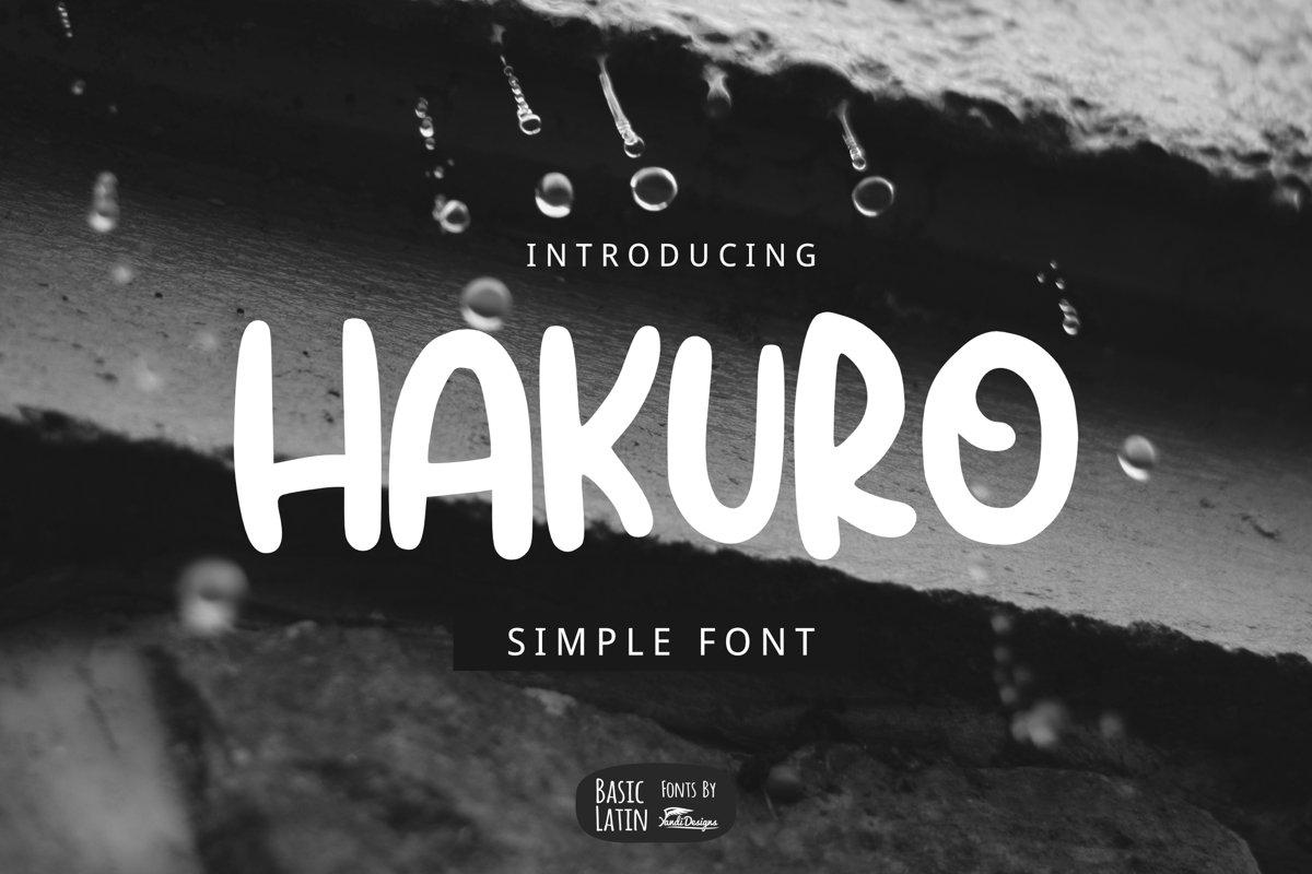 Hakuro Marker Font example image 1