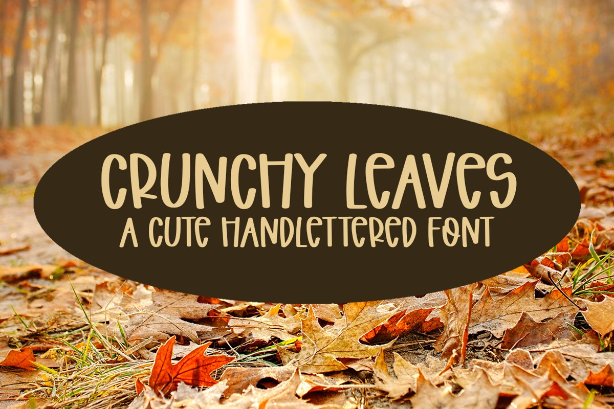 Crunchy Leaves - A Fun Hand-Lettered Font example image 1