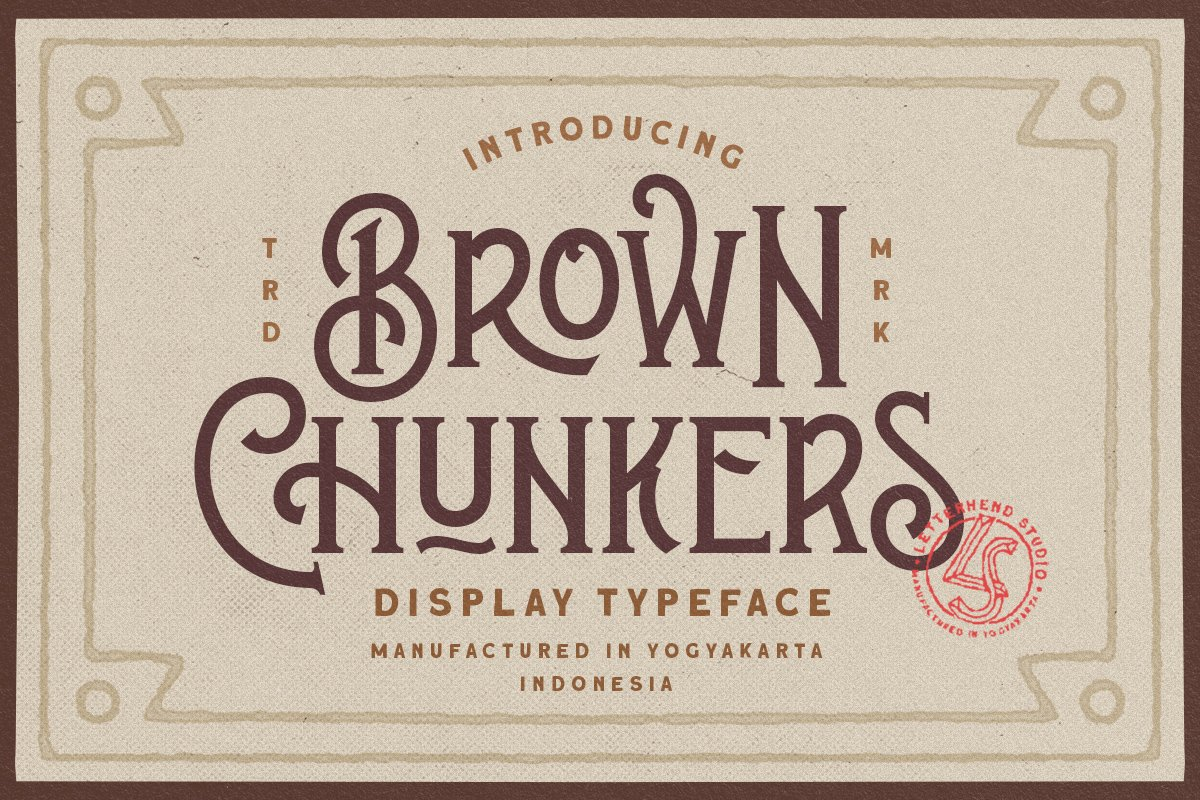 Brown Chunkers - Display Typeface example image 1
