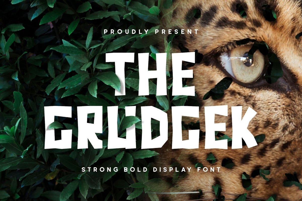 Grudgek Font example image 1