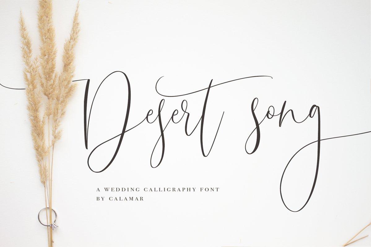 Desert Song   Calligraphy Script example image 1