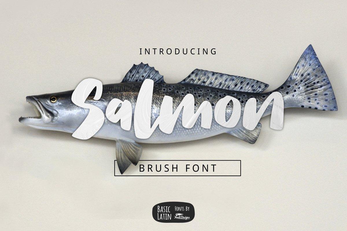 Salmon Brush Font example image 1