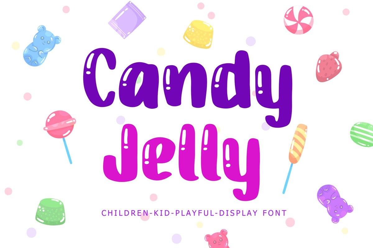 Candy Jelly Playful Display Font example image 1