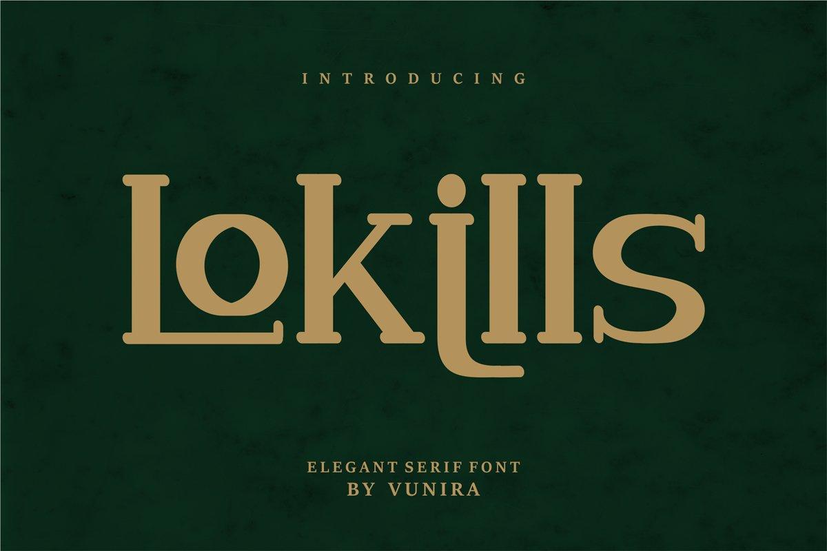 Lokills | Elegant Serif Font example image 1