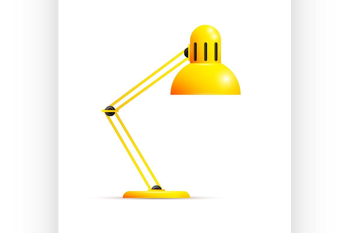 Yellow desk lamp example image 1