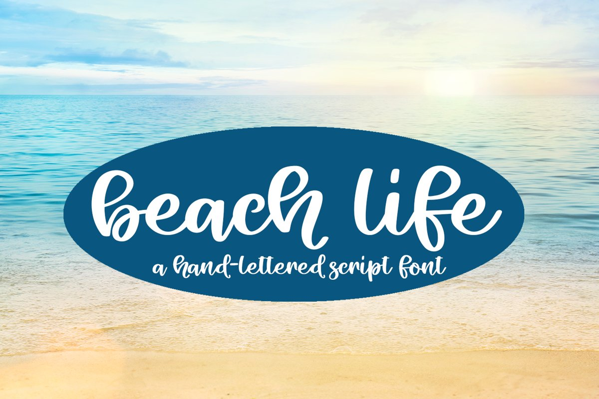 Beach Life - A Hand-Lettered Script Font example image 1