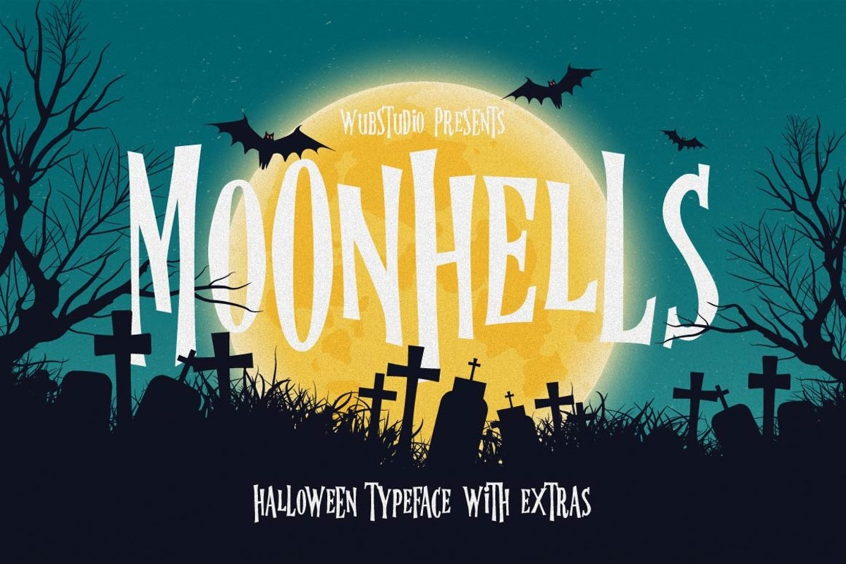 Moonhells Typeface example image 1
