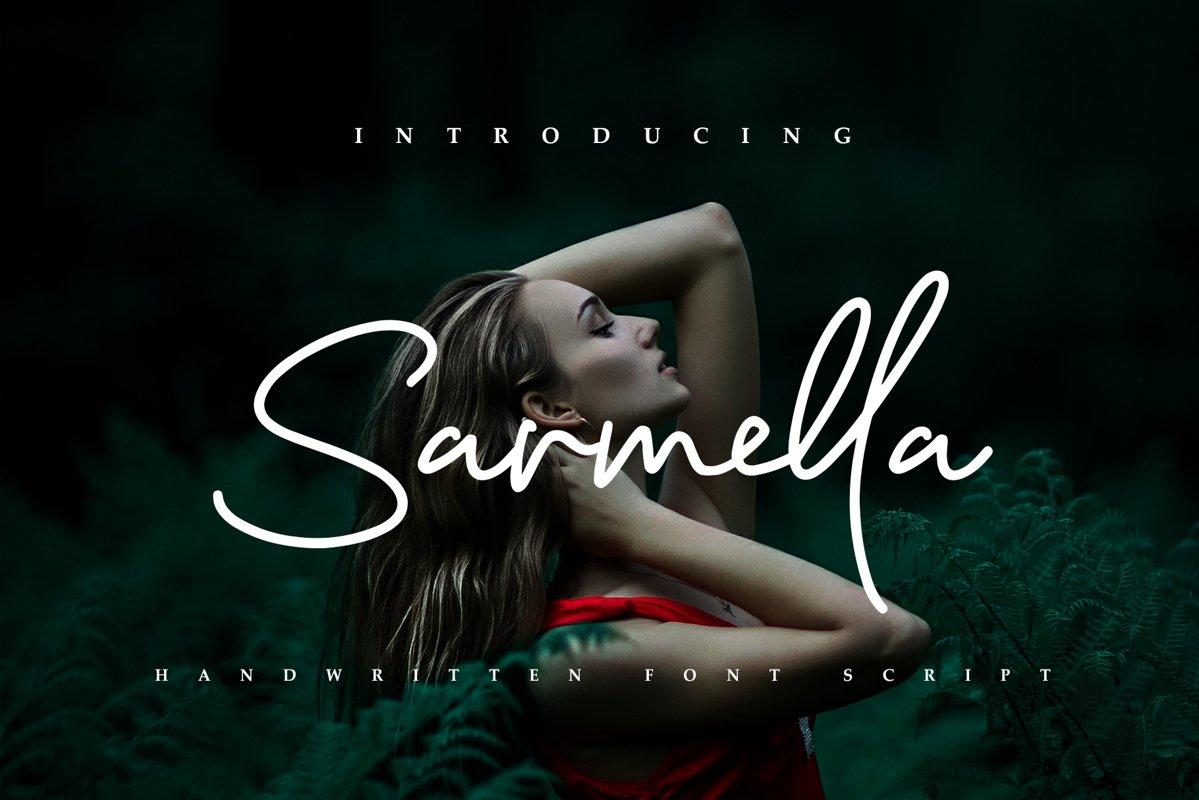 Sarmella - Handwritten Font Script example image 1