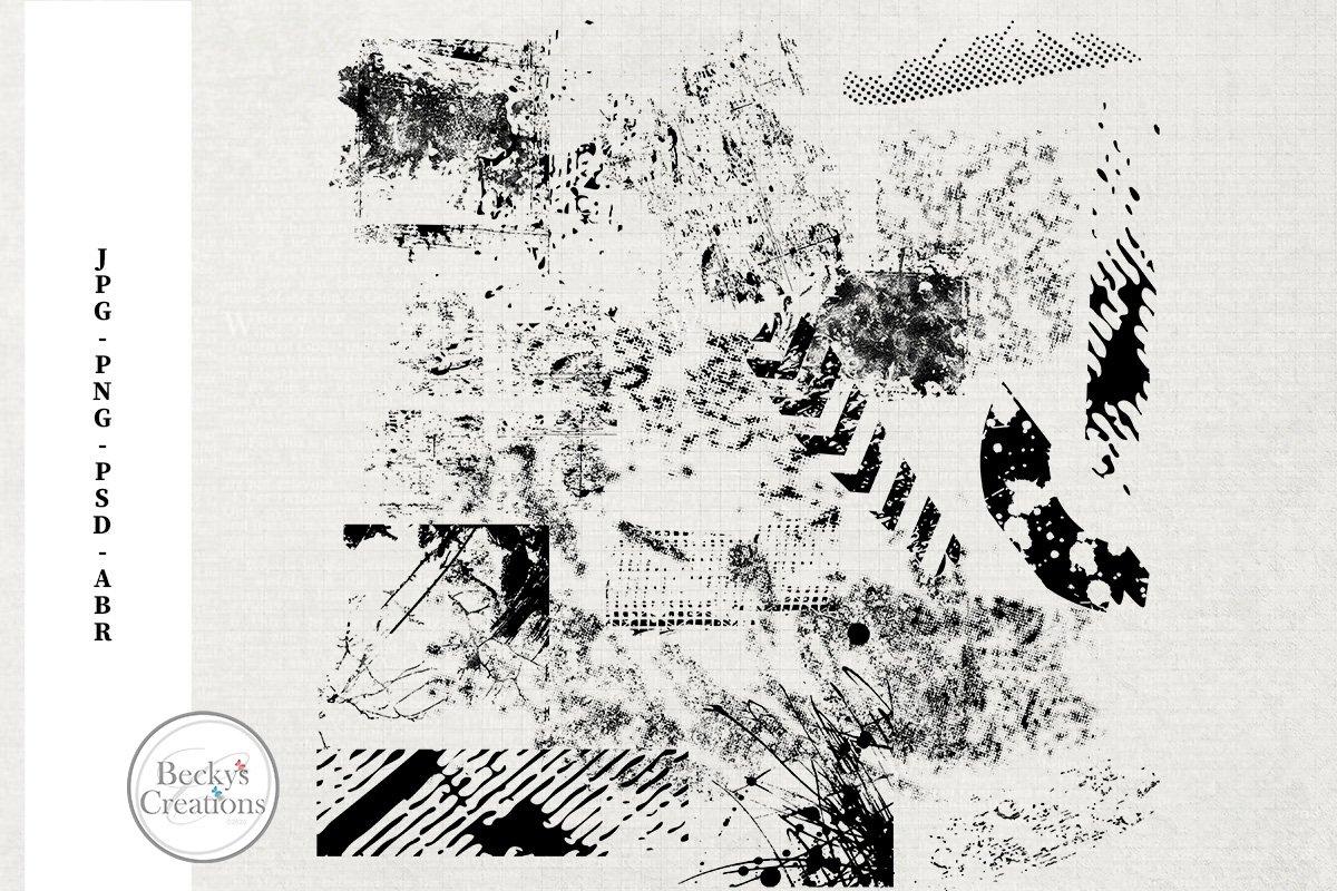 Grunge Photoshop Brushes/Illustrations example image 1