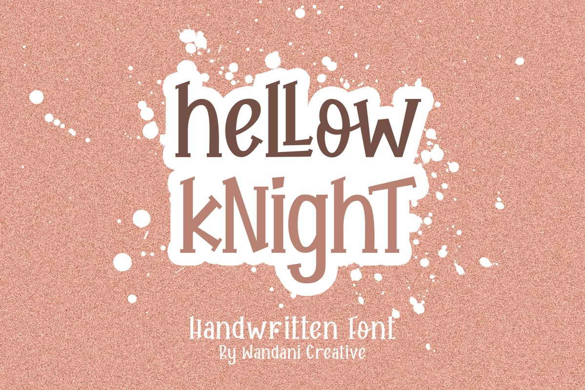 Hellow Knight // A Fun Handwritten Font example image 1