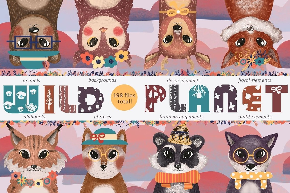 WILD PLANET cute baby graphic pack example image 1