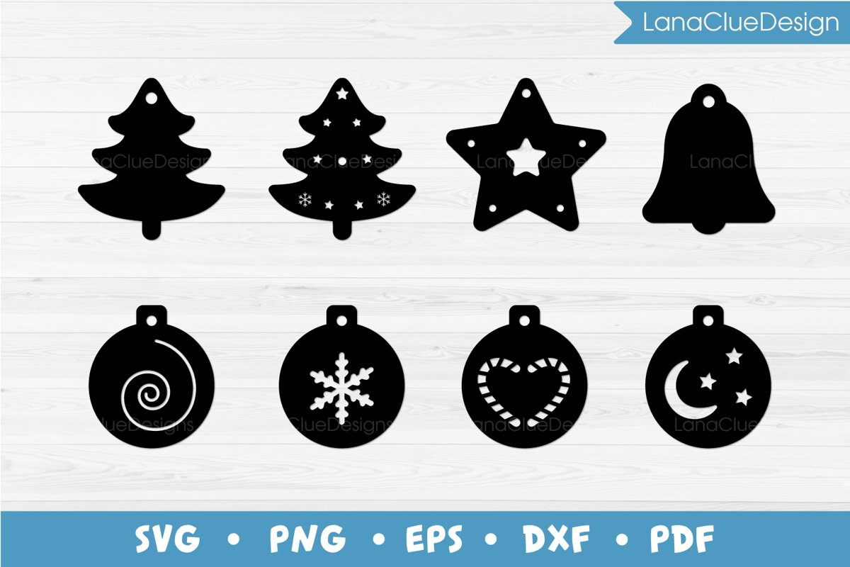 8 Christmas Gift Tags SVG Cut Files example image 1