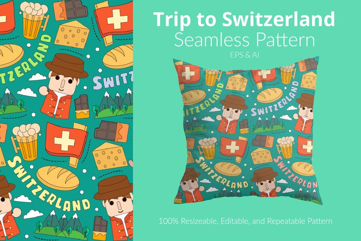 Trip to Switzerland - Seamless Pattern example image 1