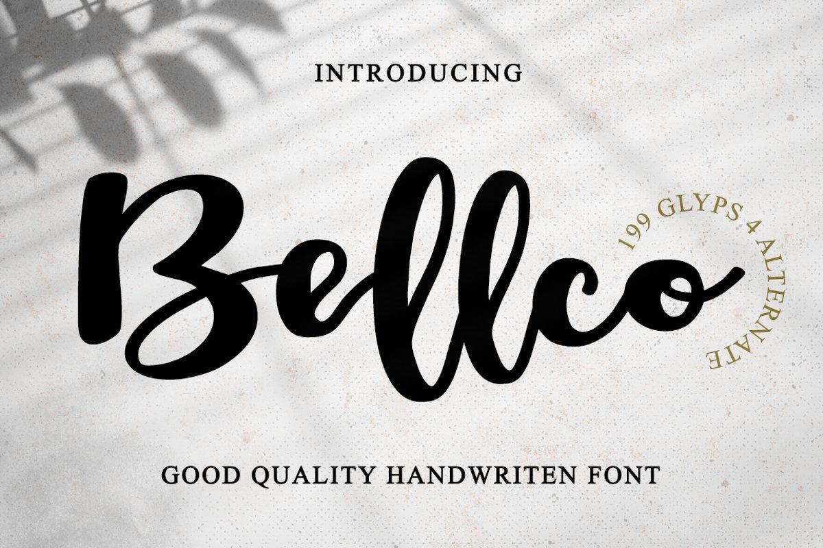 Bellco -Handwritten Font example image 1