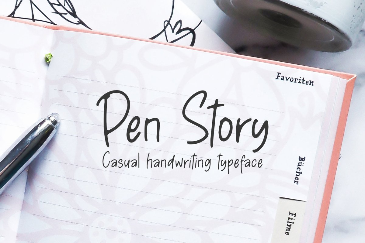 Pen Story - Casual Handwriting example image 1