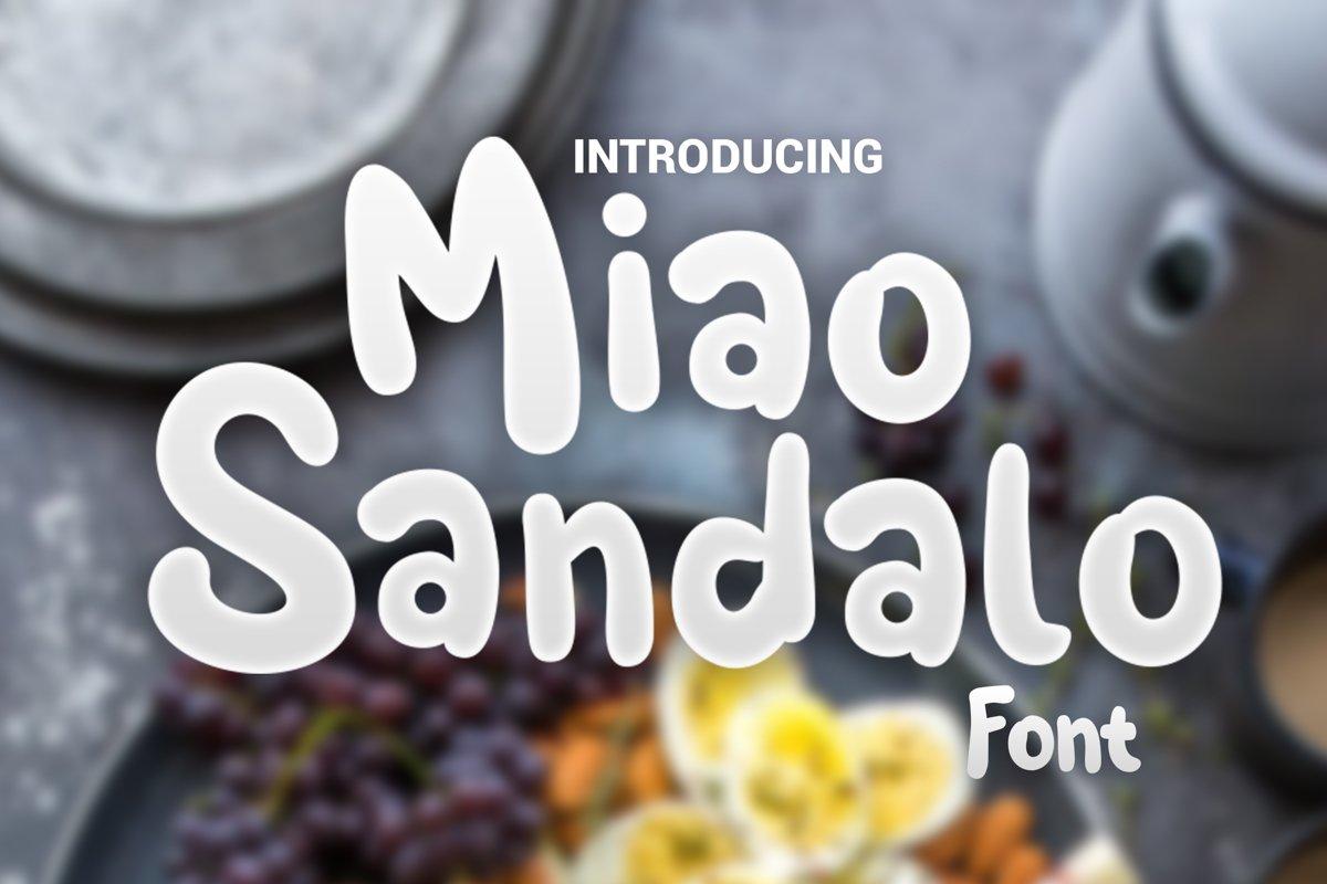 Miao Sandalo Display font example image 1