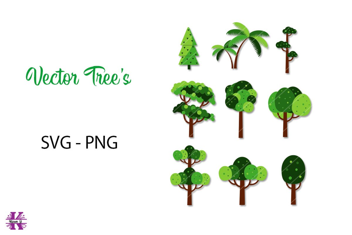 Vector Tree's SVG PNG example image 1