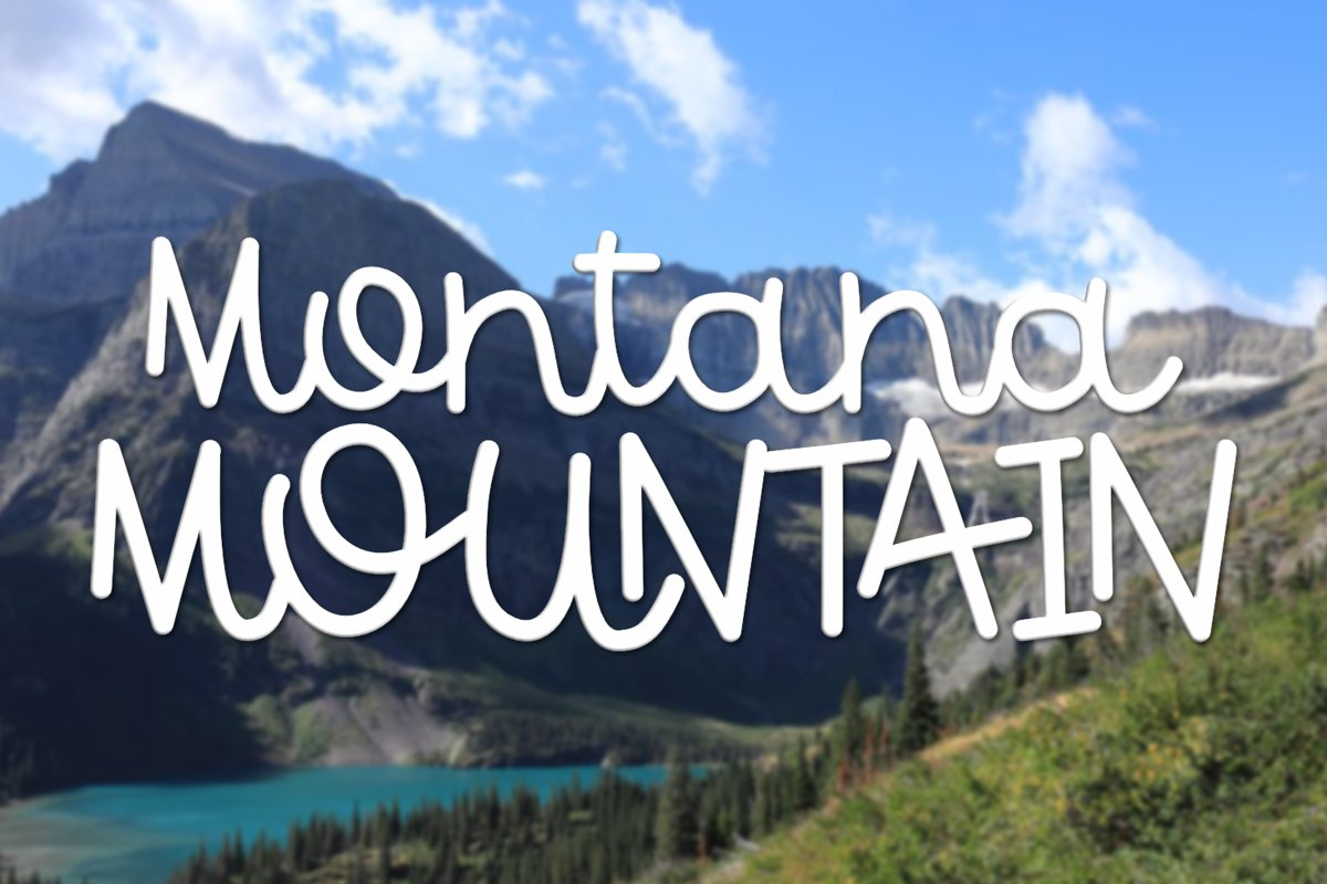 Montana Mountain - A Fun Font With Some Interlocking Letters example image 1