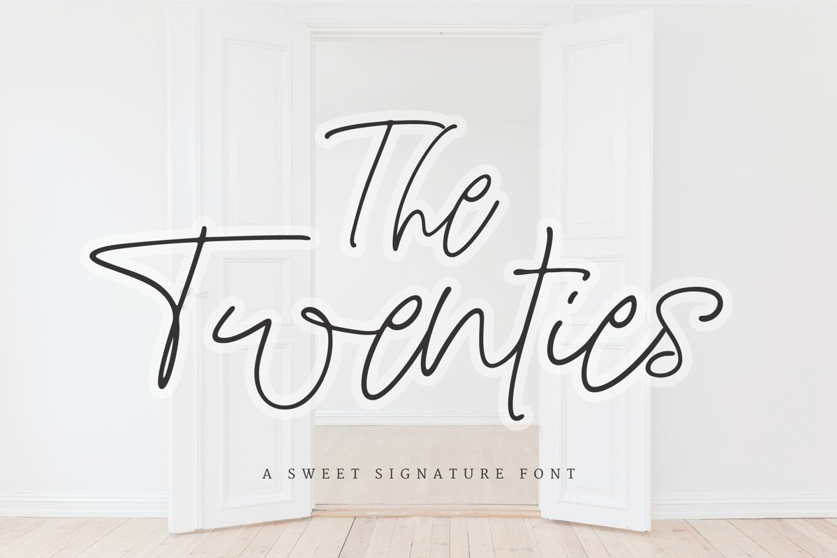 The Twenties   A Sweet Signature Font example image 1
