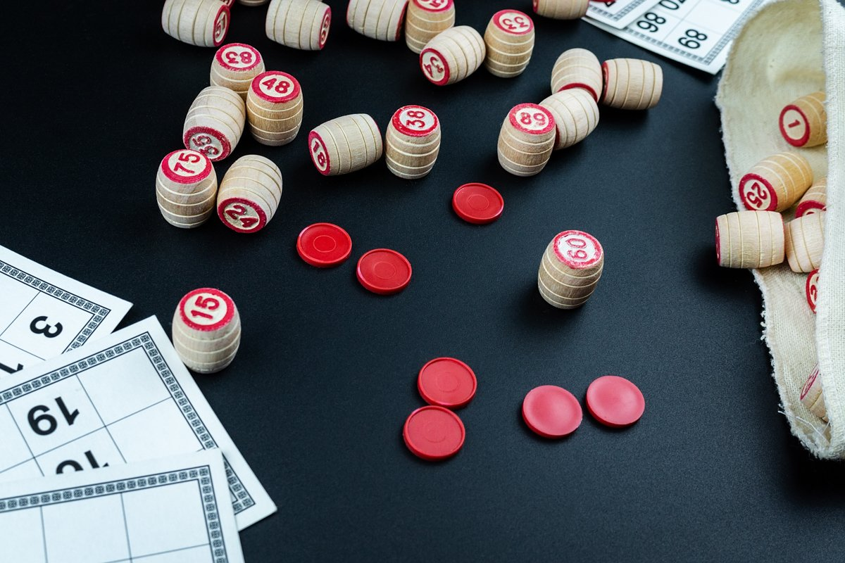 Lotto game on black background example image 1