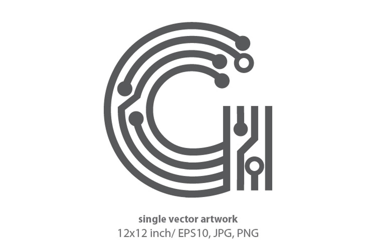 digital letter g- single vector artwork example image 1