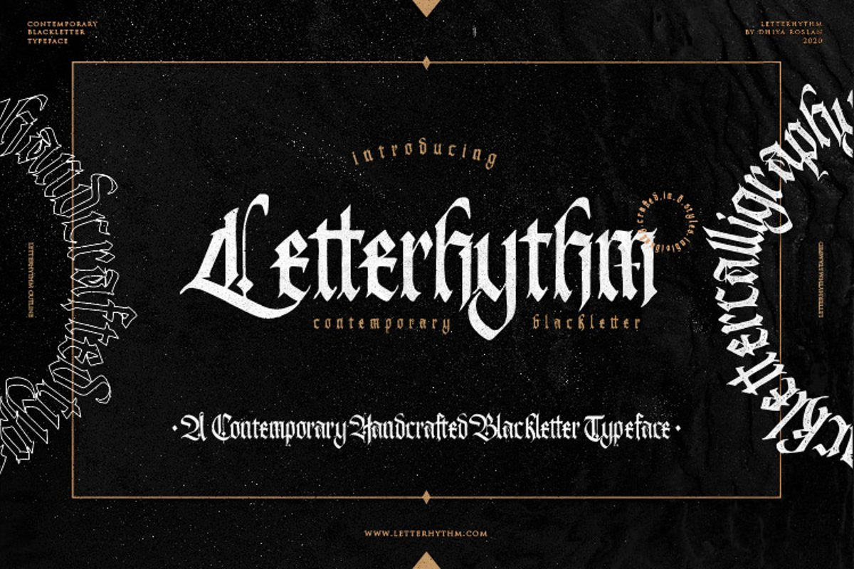 Letterhythm Contemporary Blackletter Typeface example image 1
