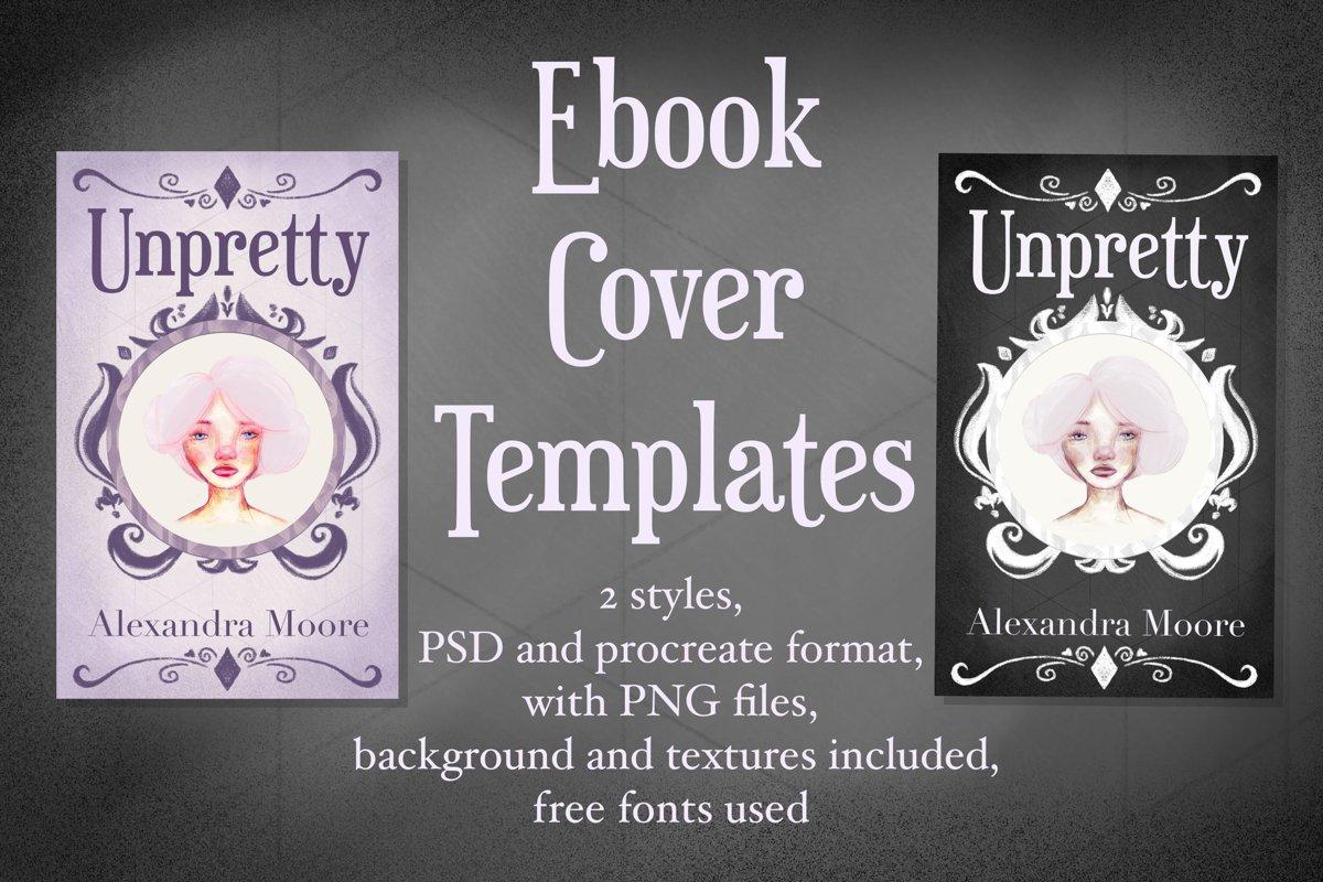 Unpretty - Lilac and Dark Ebook cover template example image 1